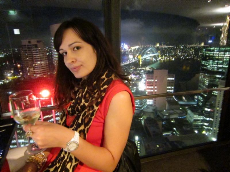 Enjoying breathtaking view over Sydney :)