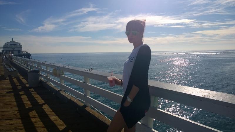 Sunny day at Malibubeach&pier
